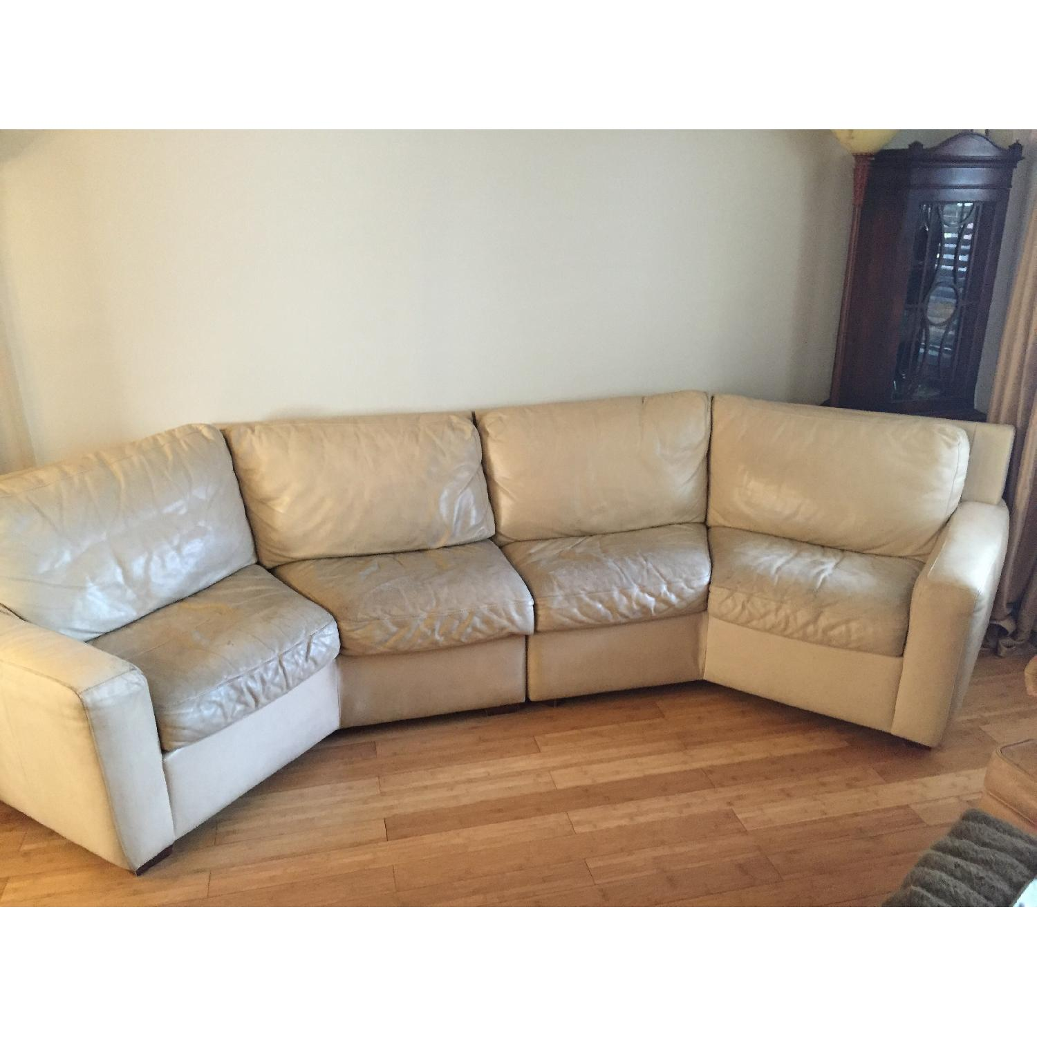 American Leather Curved 2-Piece Sectional - image-2
