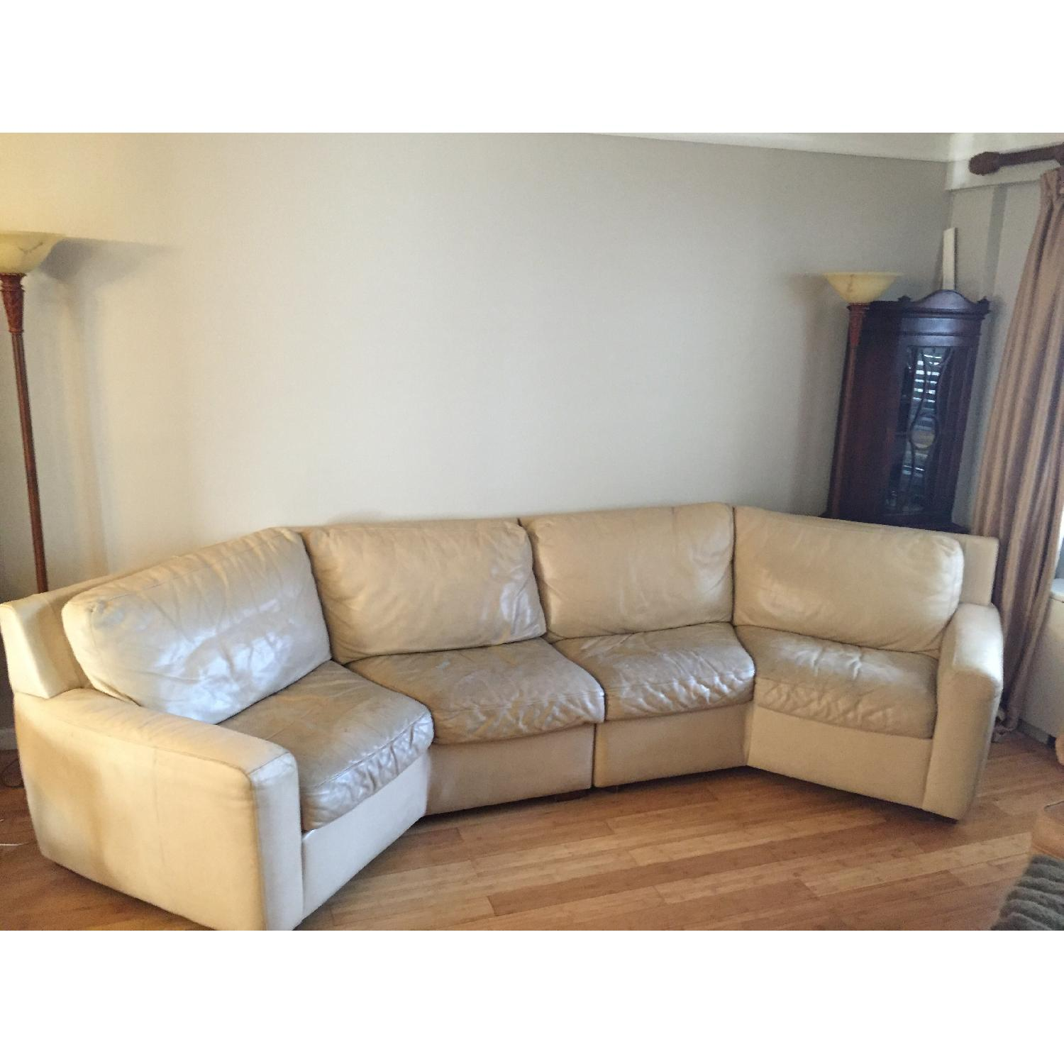 American Leather Curved 2-Piece Sectional - image-3