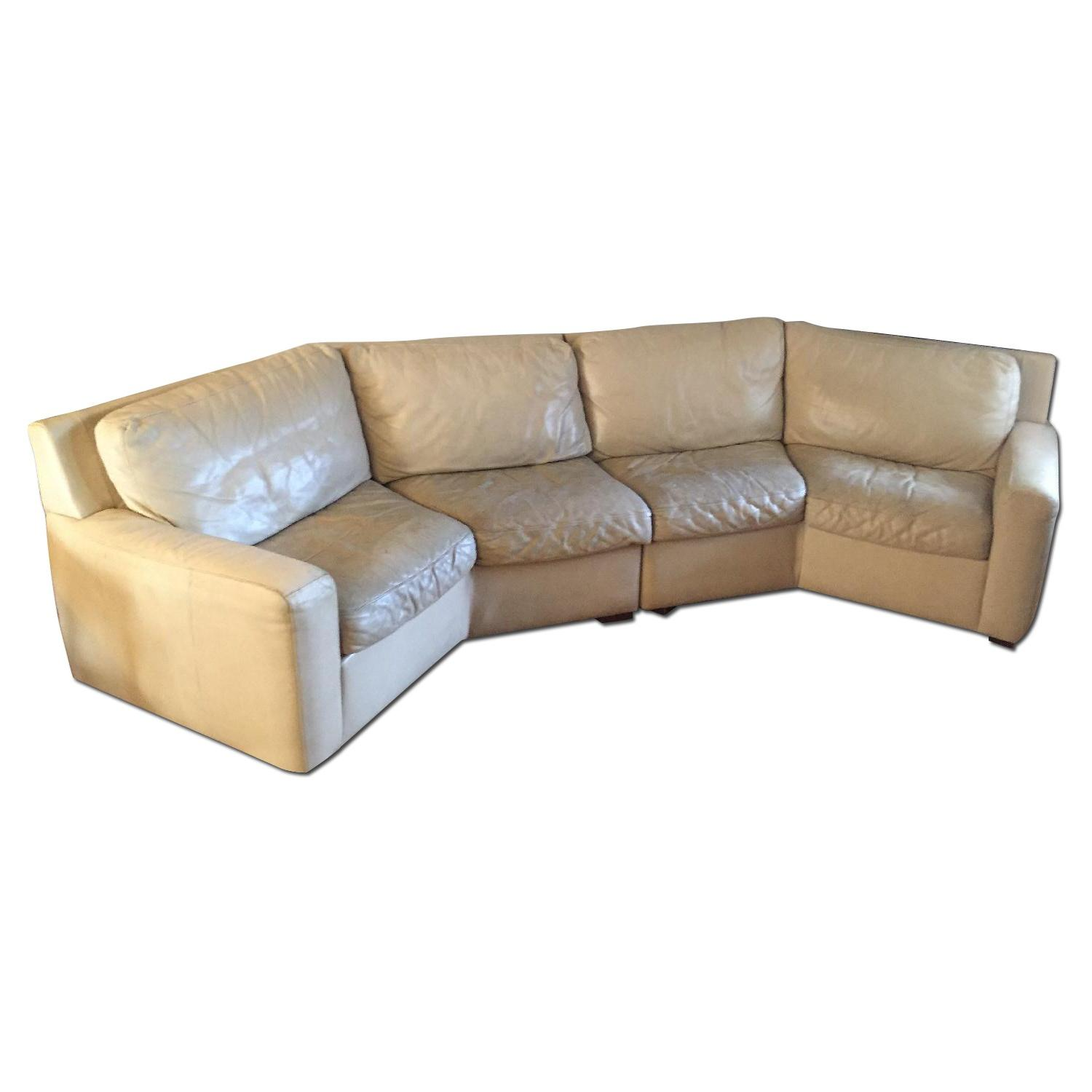 American Leather Curved 2-Piece Sectional - image-0