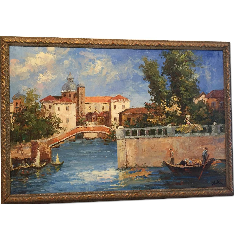 Italian Oil Painting On Canvas - image-0