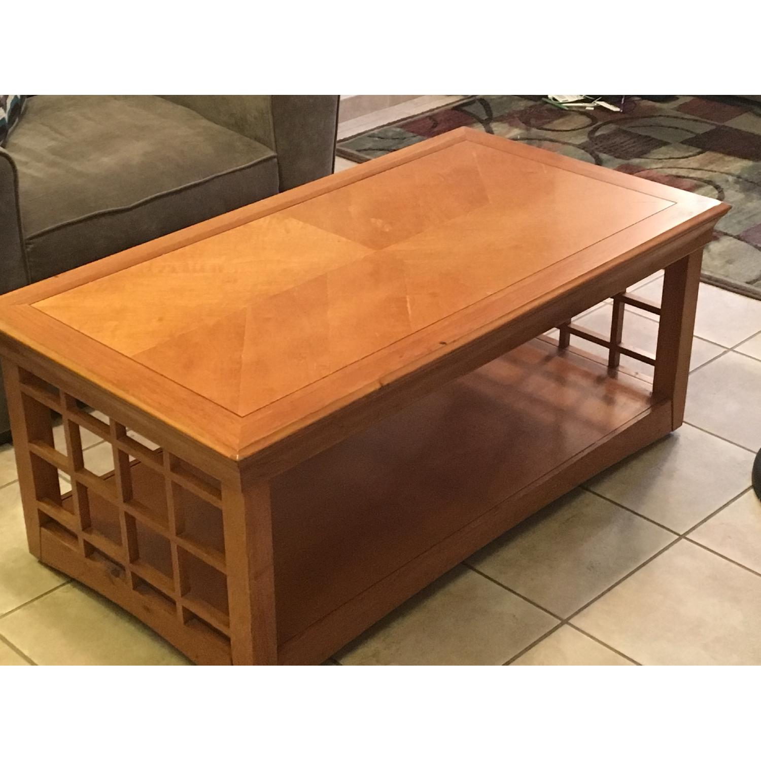 Furniture Options Wooden Coffee Table + 2 Matching End Tables - image-1