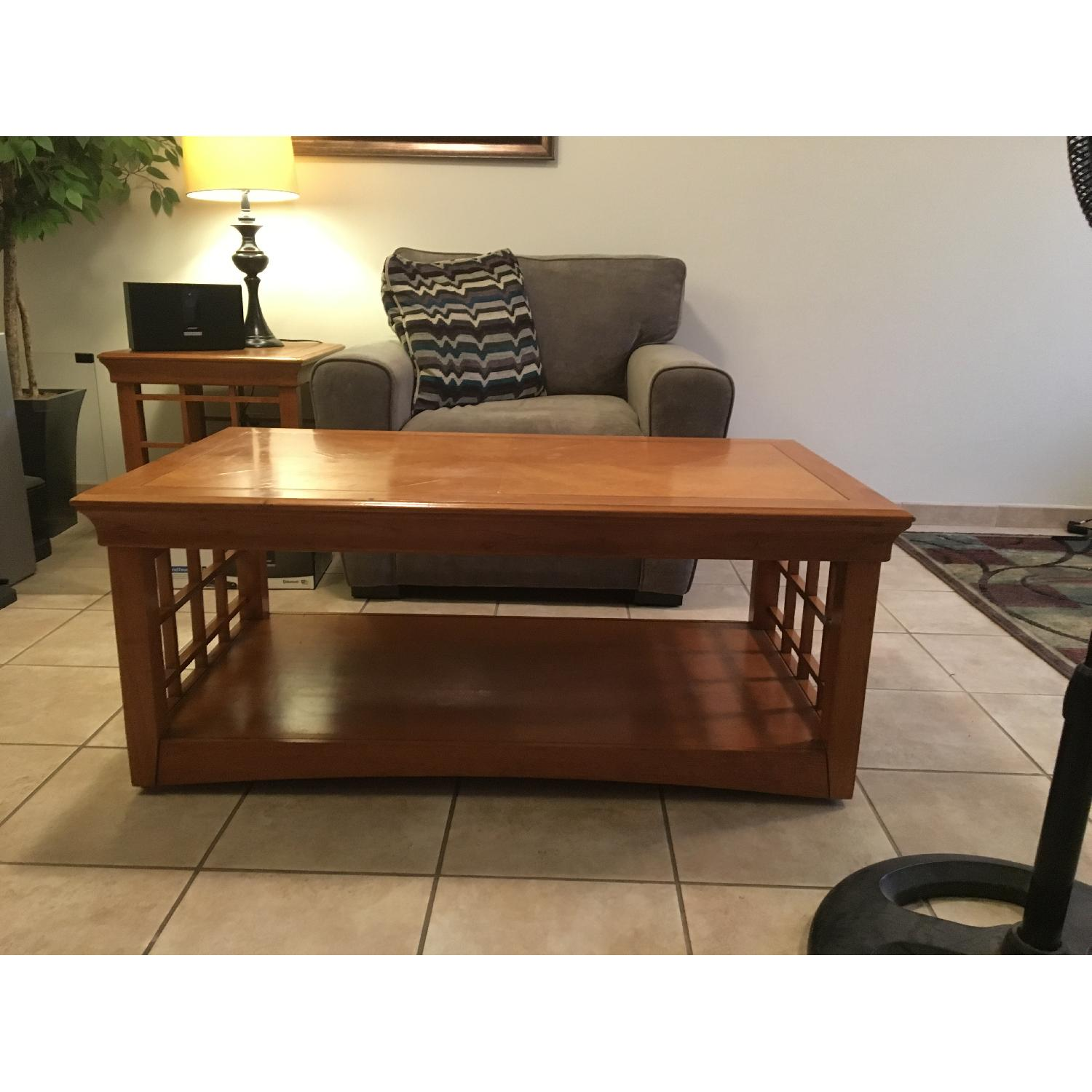 Furniture Options Wooden Coffee Table + 2 Matching End Tables - image-2