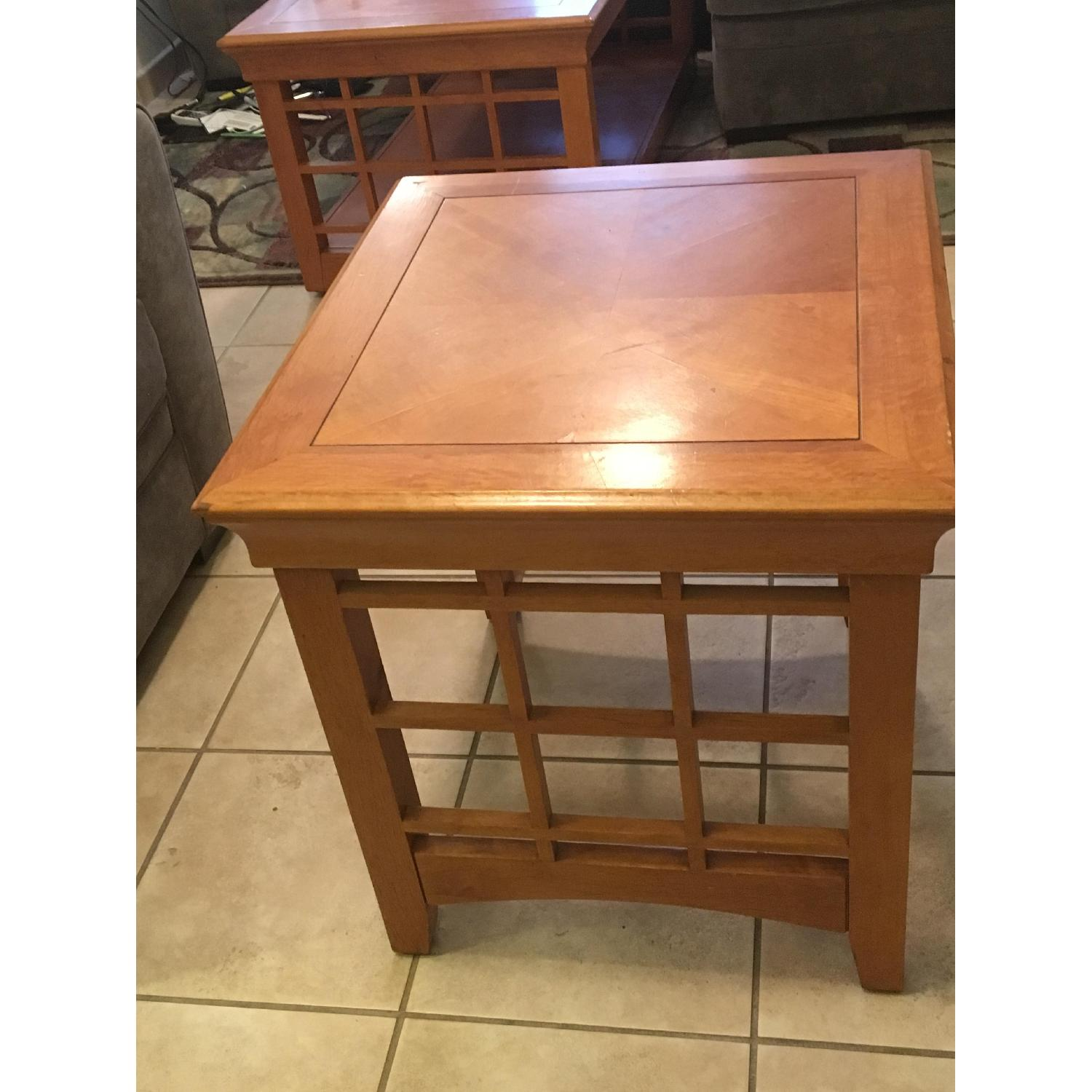 Furniture Options Wooden Coffee Table + 2 Matching End Tables - image-6