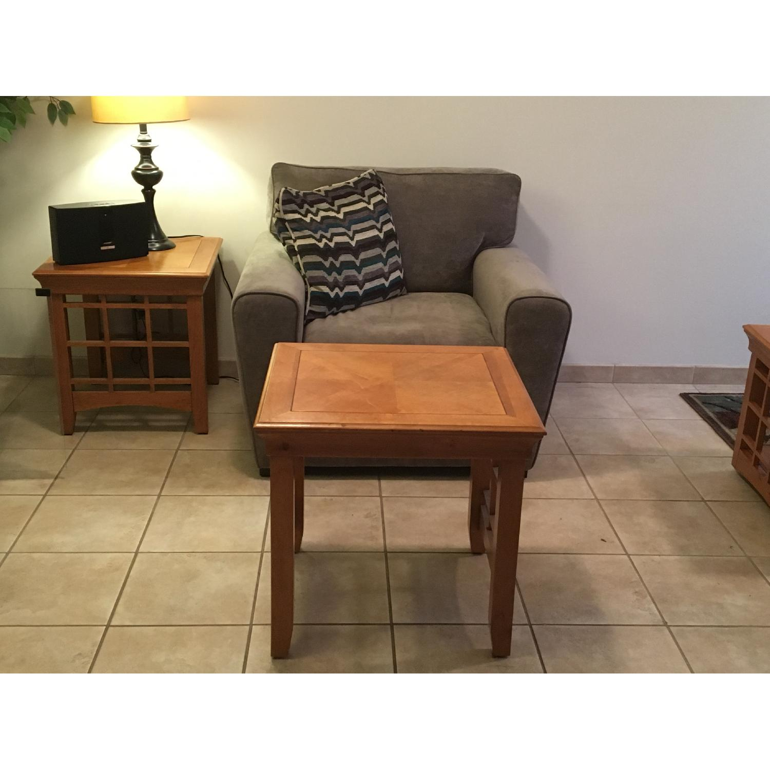 Furniture Options Wooden Coffee Table + 2 Matching End Tables - image-7