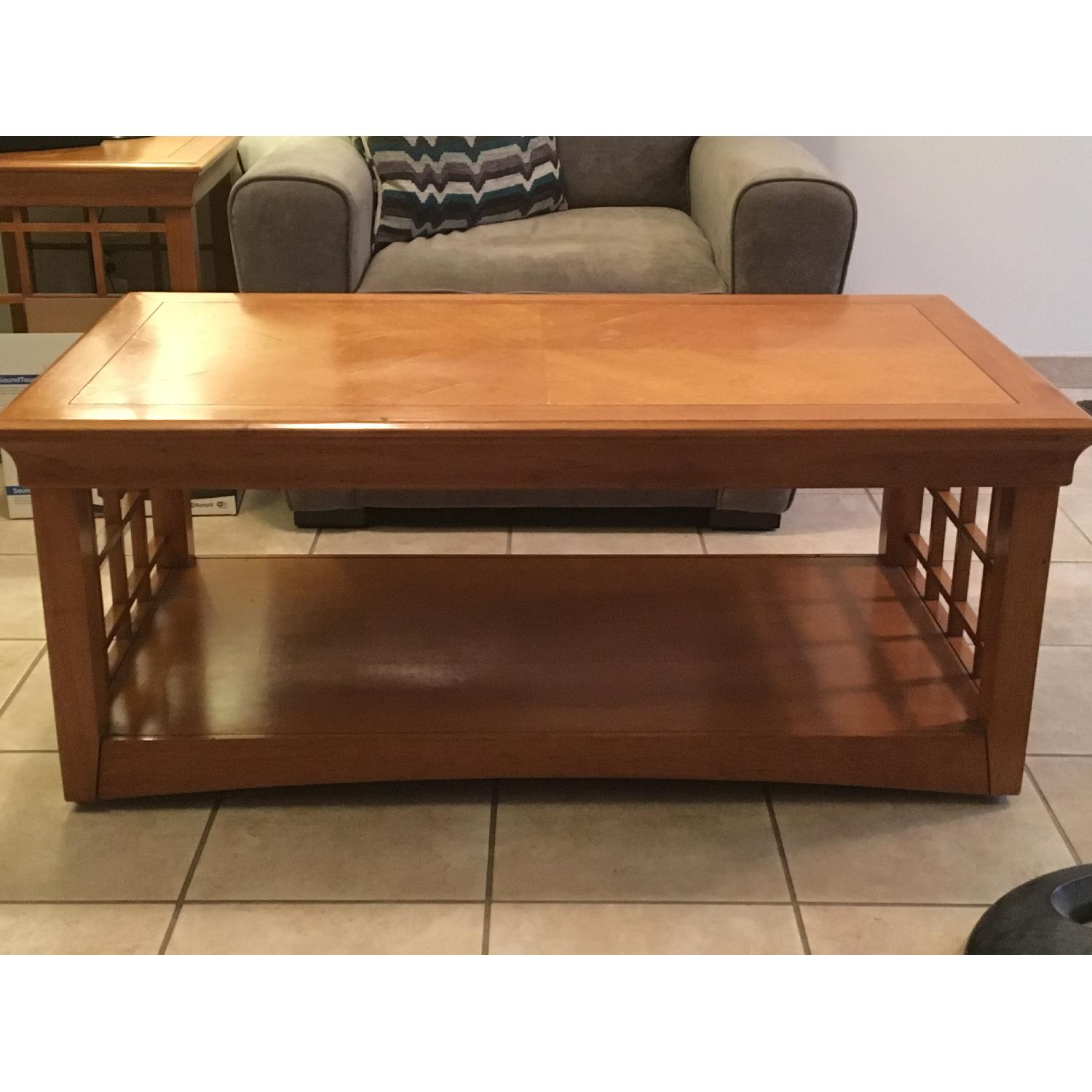 Furniture Options Wooden Coffee Table + 2 Matching End Tables - image-9