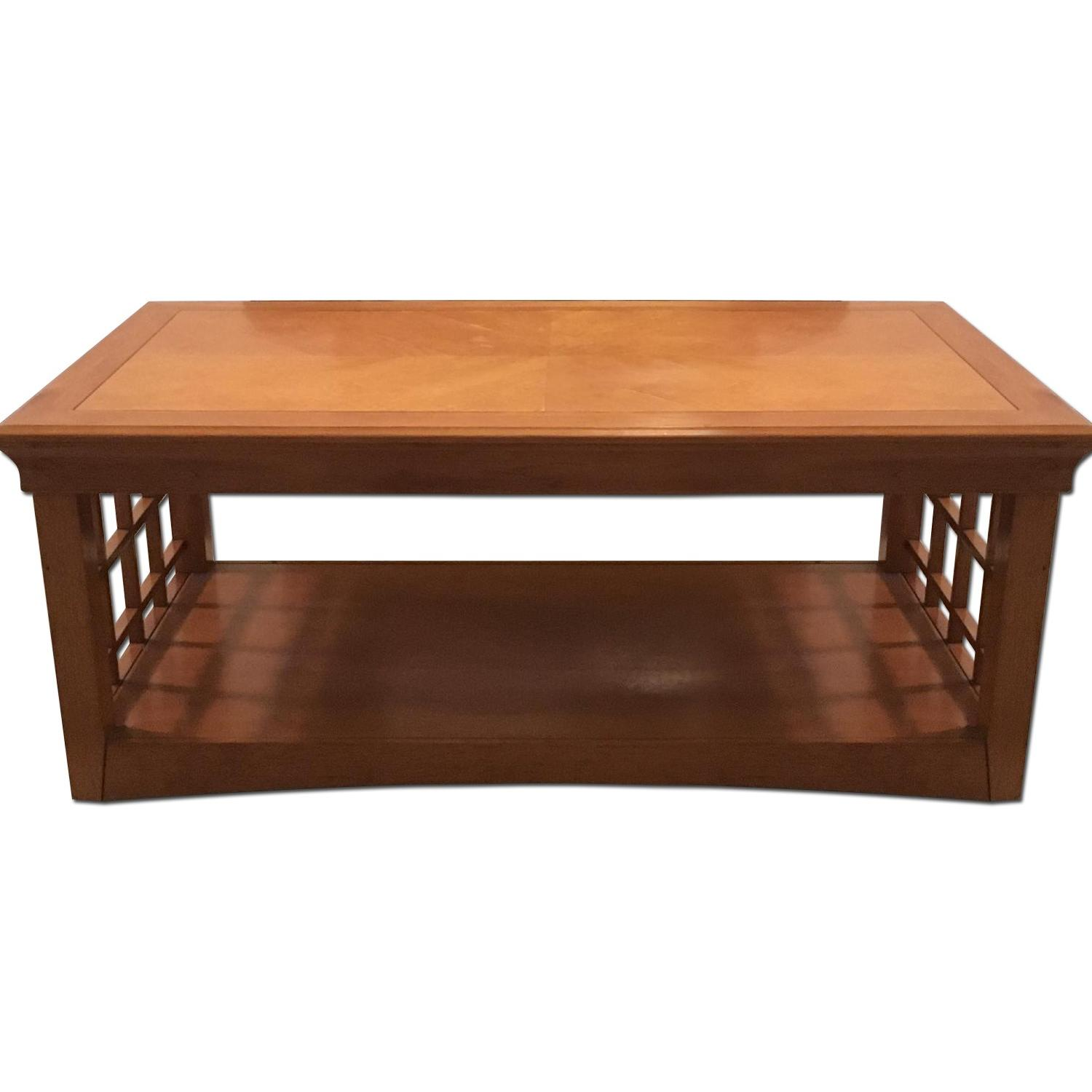 Furniture Options Wooden Coffee Table + 2 Matching End Tables - image-0