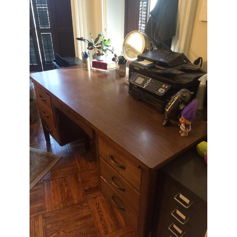 Leopold Company Antique Wooden Desk - image-5