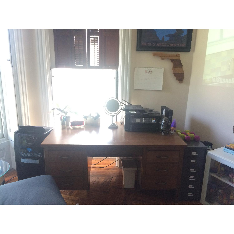 Leopold Company Antique Wooden Desk - image-7