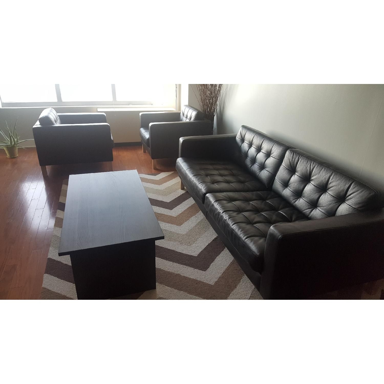 Ikea Karlstad Leather Sofa - image-1