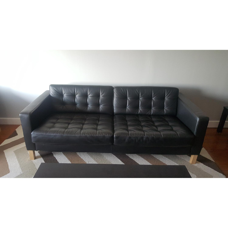 Ikea Karlstad Leather Sofa - image-2