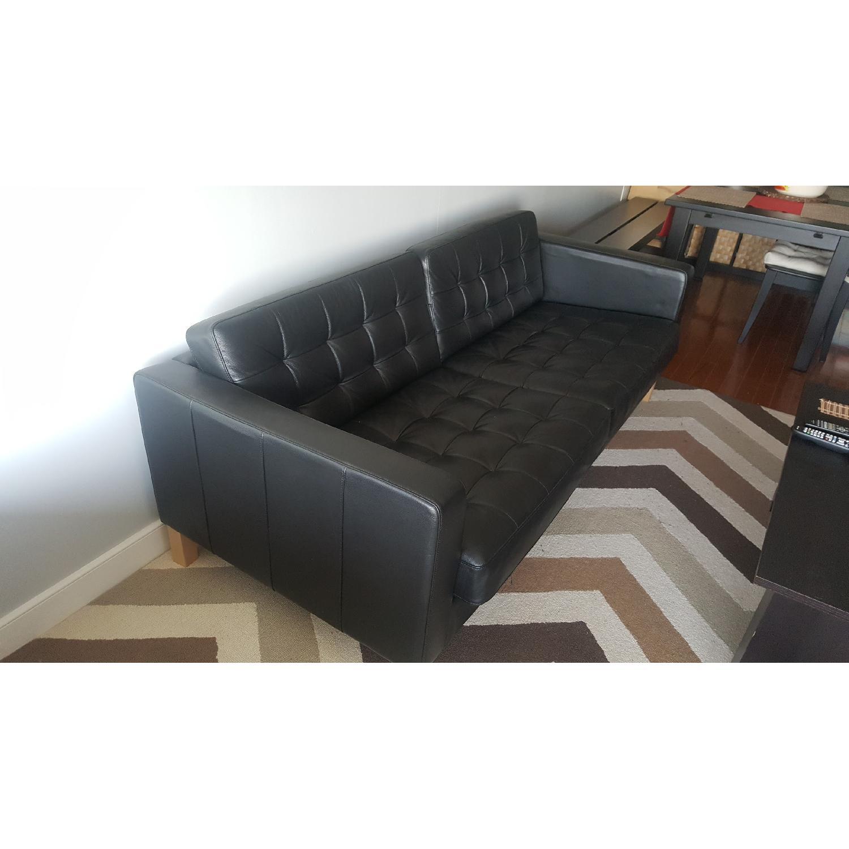 Ikea Karlstad Leather Sofa - image-3