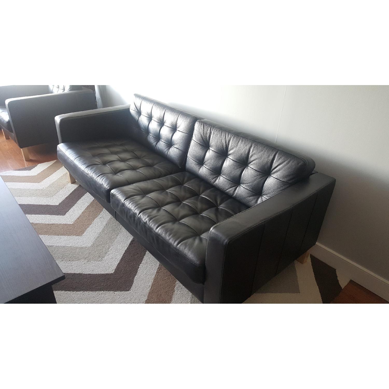 Ikea Karlstad Leather Sofa - image-4