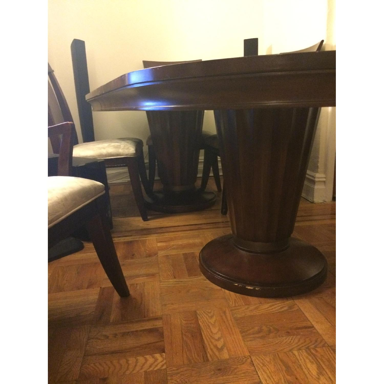 Expandable Dining Table w/ 6 Chairs + China Closet - image-4