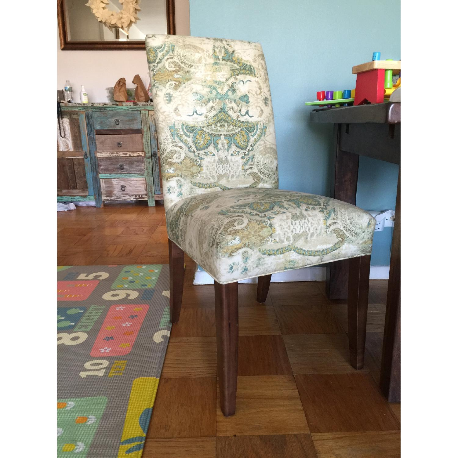 ABC Carpet and Home High Back Upholstered Dining Chairs - image-1