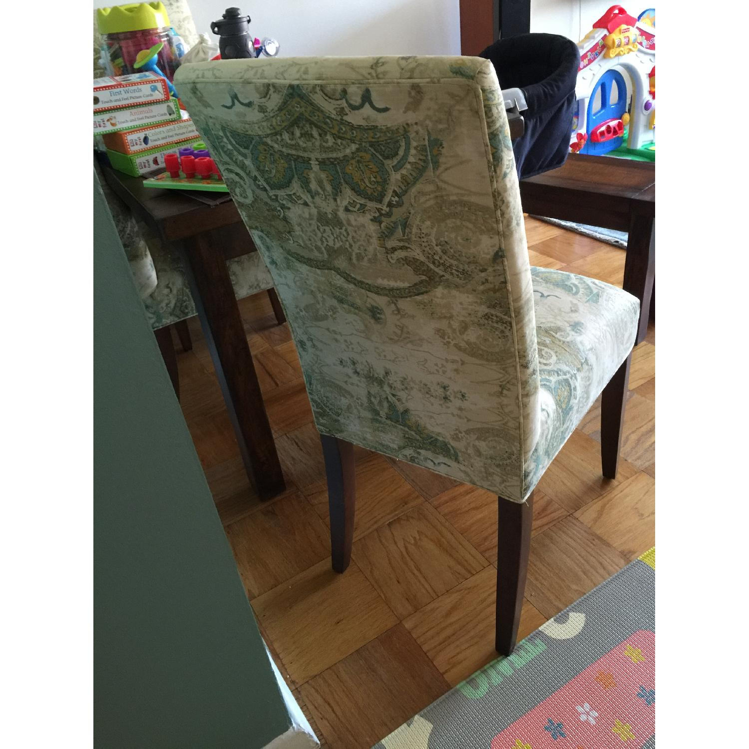 ABC Carpet and Home High Back Upholstered Dining Chairs - image-2