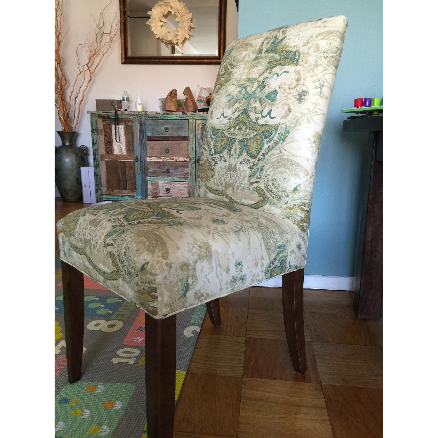 ABC Carpet and Home High Back Upholstered Dining Chairs - image-4