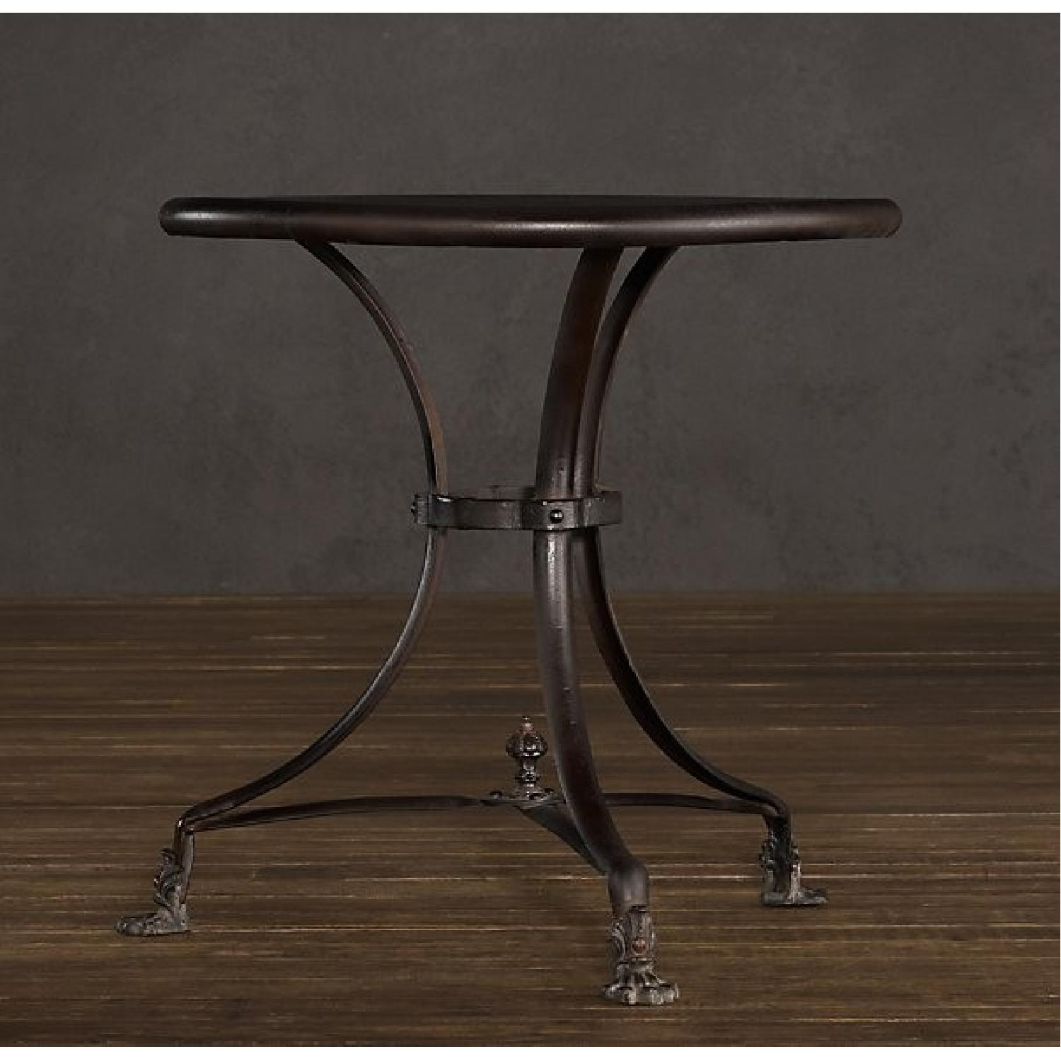 Restoration Hardware 19th C. French Lion's Foot Brasserie Table w/ 2 Chairs - image-2