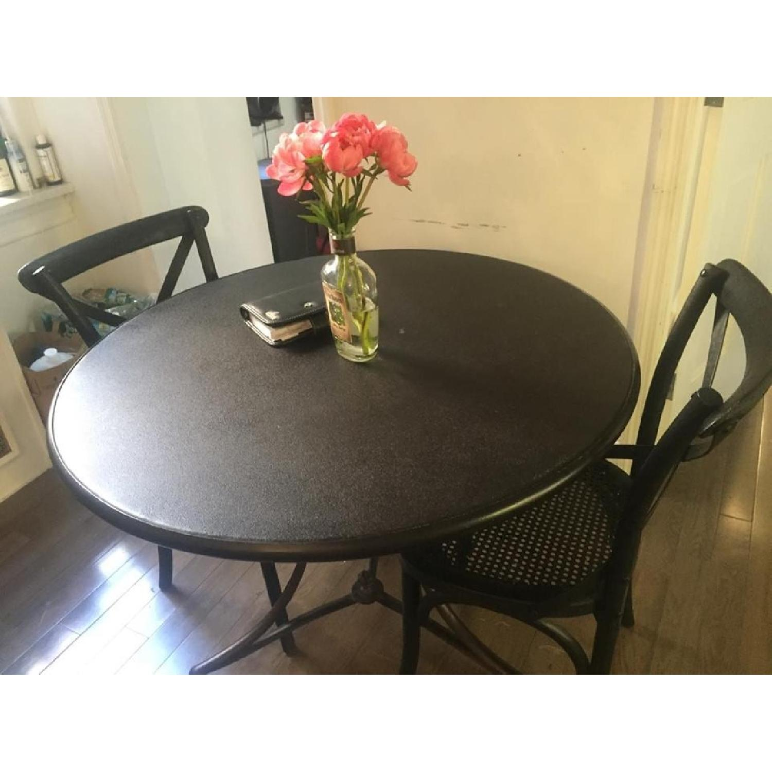 Restoration Hardware 19th C. French Lion's Foot Brasserie Table w/ 2 Chairs - image-3