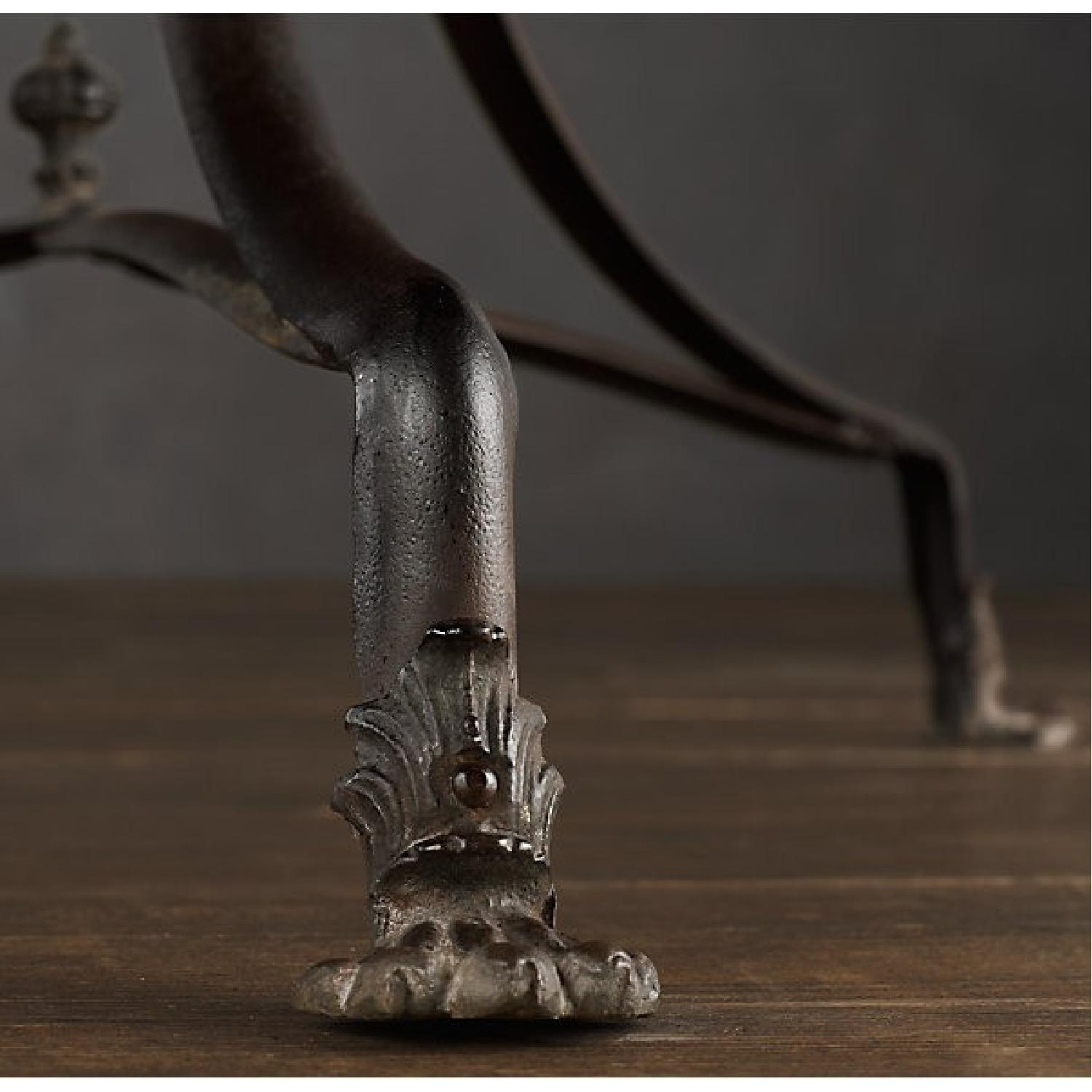 Restoration Hardware 19th C. French Lion's Foot Brasserie Table w/ 2 Chairs - image-6