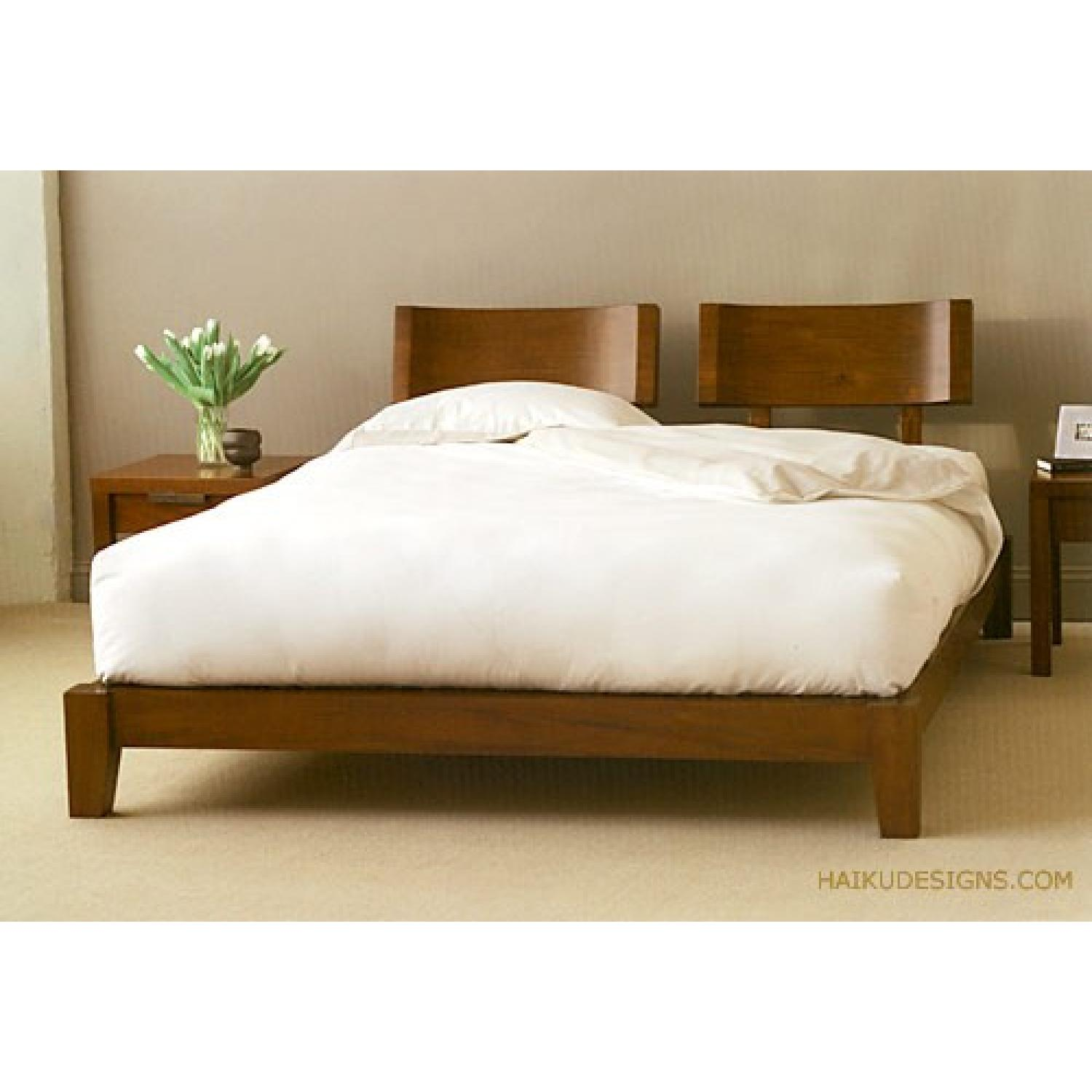 Japanese Edo Syle Queen Mahogany Bed - image-5