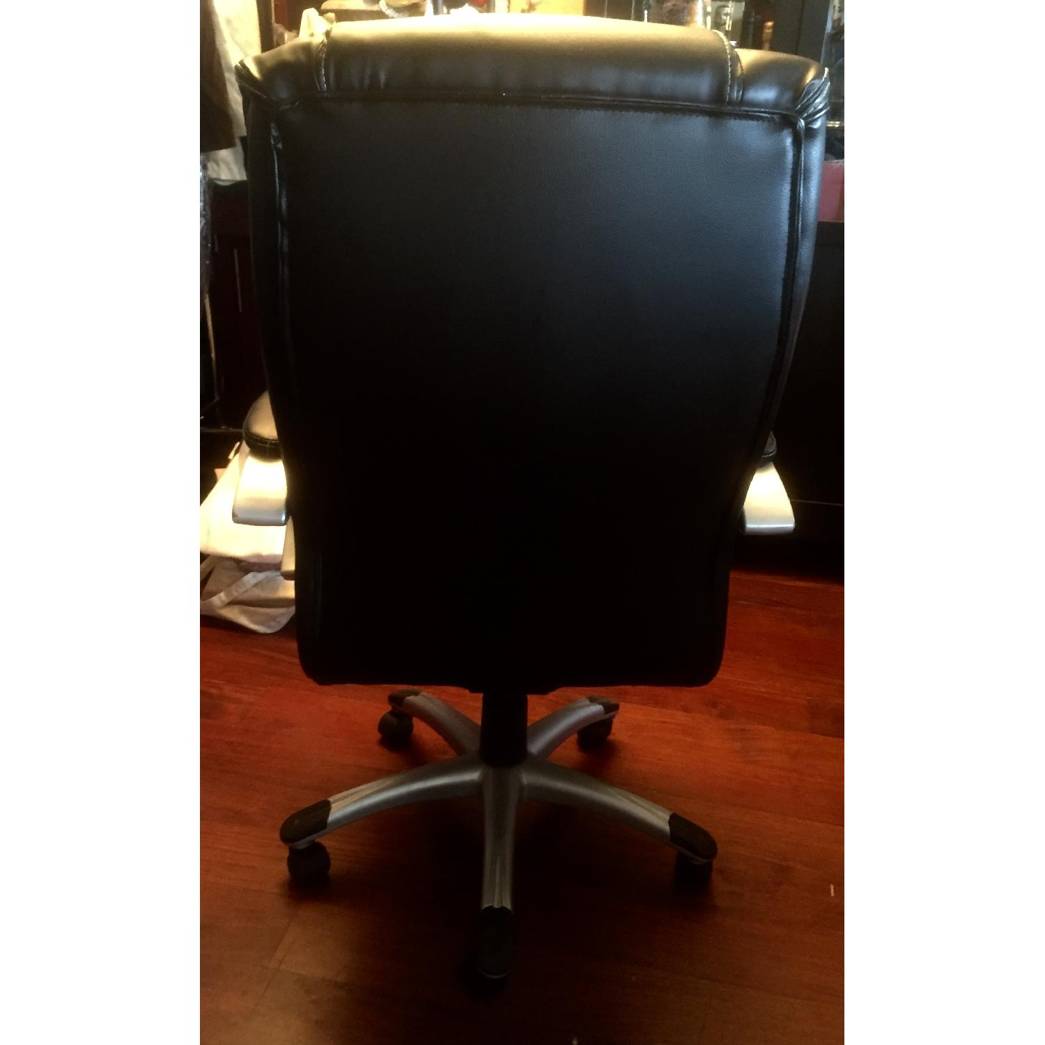 Monarch Specialties Faux Leather Office Chair in Black - image-3