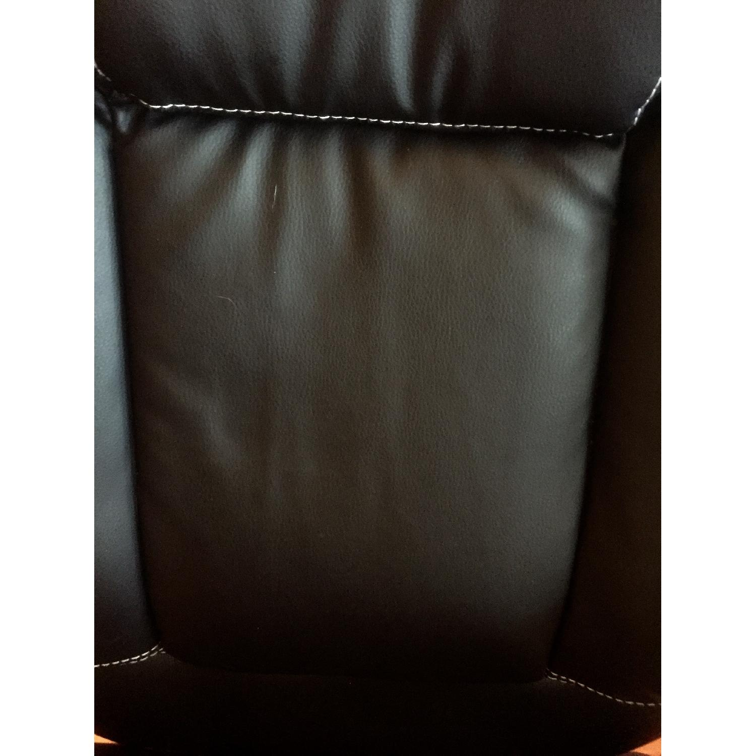Monarch Specialties Faux Leather Office Chair in Black - image-5