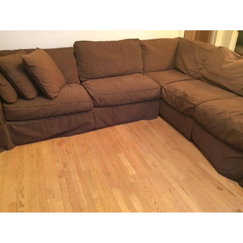 Restoration Hardware Sleeper Sectional Sofa - image-5