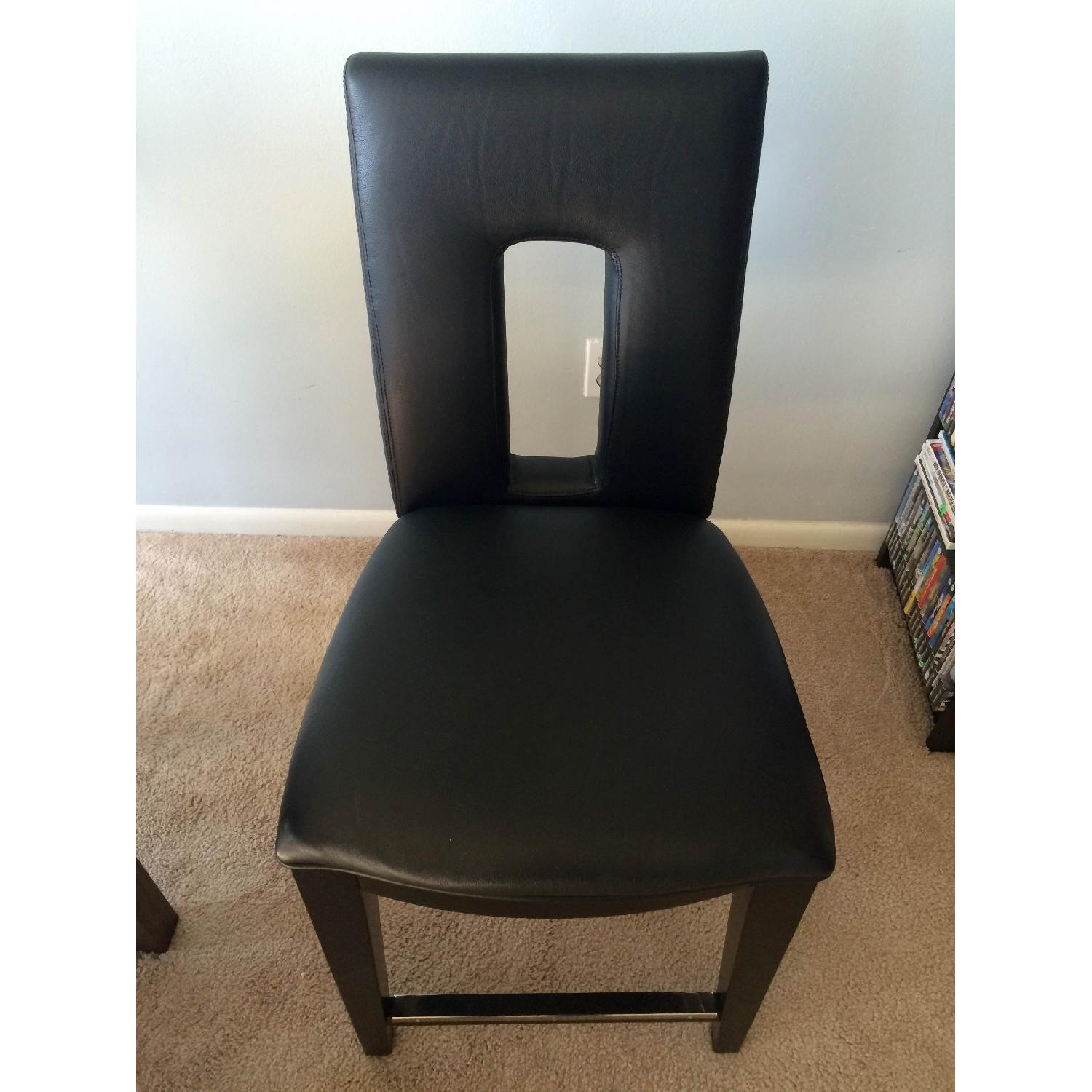 Broyhill Italian Leather Counter-Height Chairs - image-1