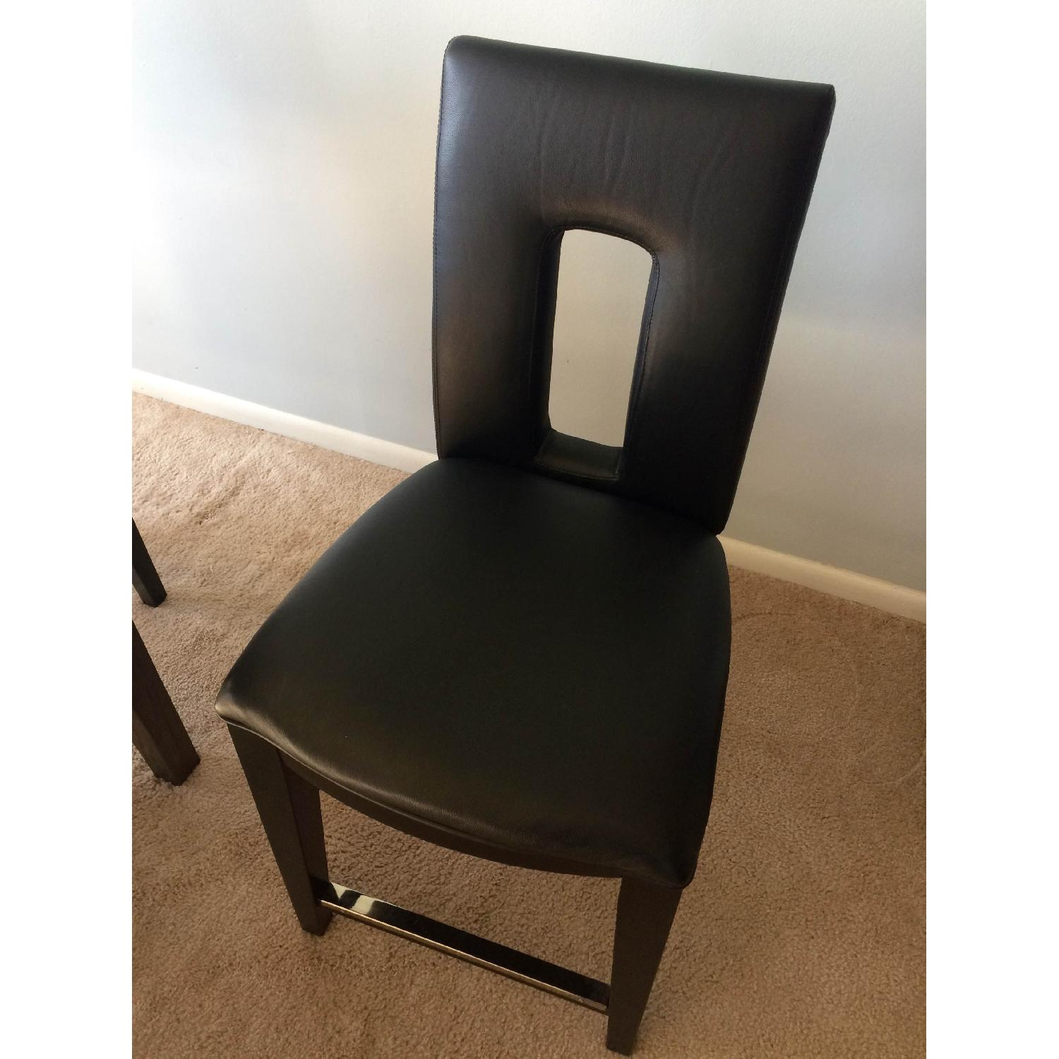 Broyhill Italian Leather Counter-Height Chairs - image-2