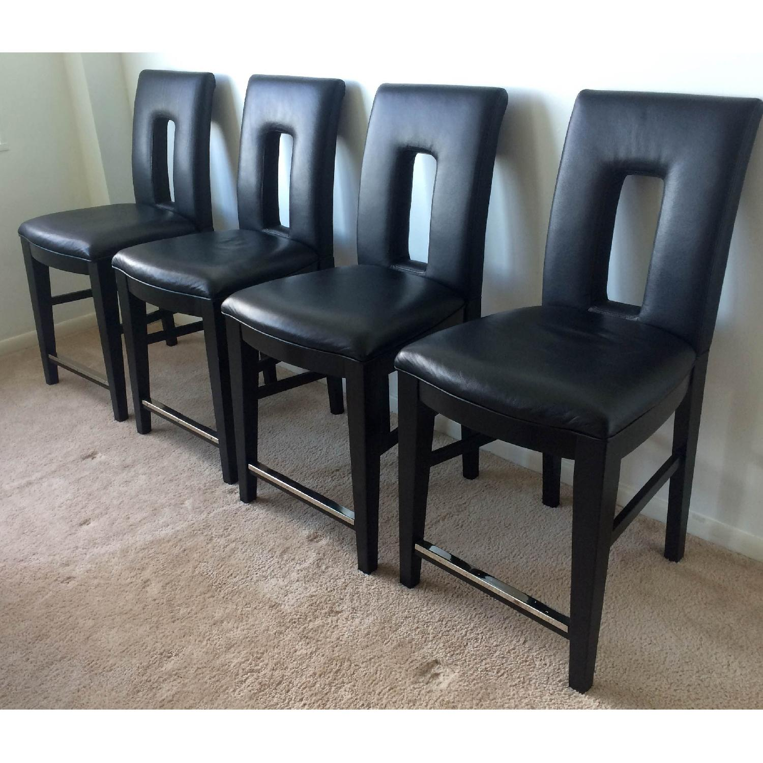 Broyhill Italian Leather Counter-Height Chairs - image-5
