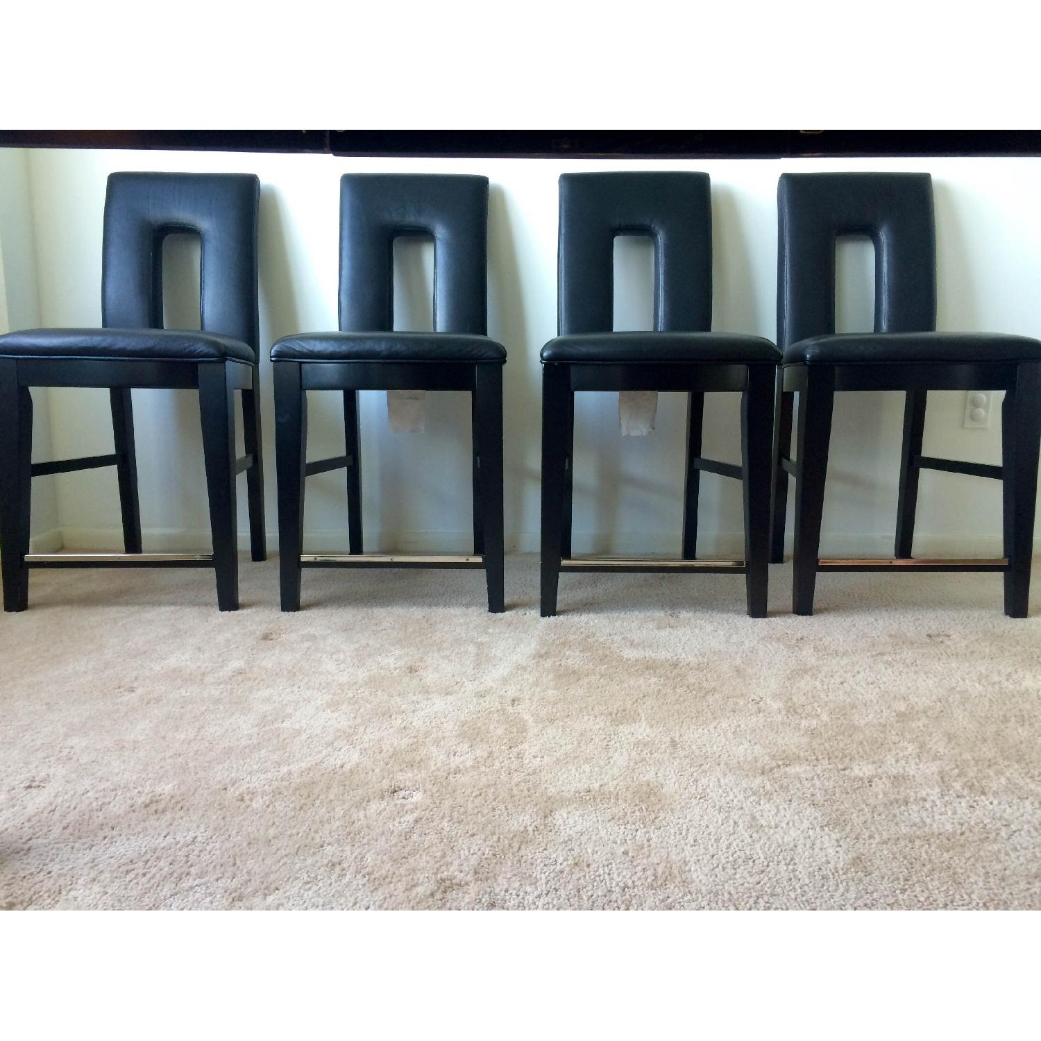 Broyhill Italian Leather Counter-Height Chairs - image-6