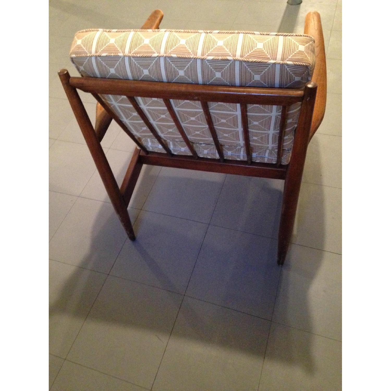 Danish Modern Chairs w/ Dwell Studio Upholstery - image-1