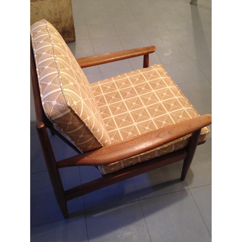 Danish Modern Chairs w/ Dwell Studio Upholstery - image-2