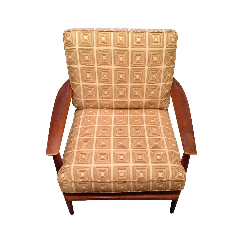 Danish Modern Chairs w/ Dwell Studio Upholstery - image-0