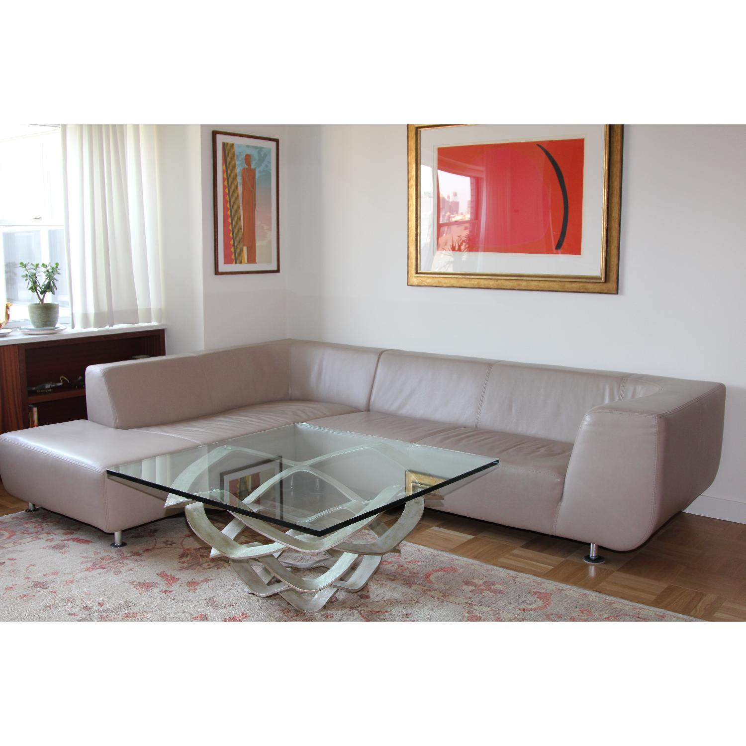 Maurice Villency Leather Sectional - image-3