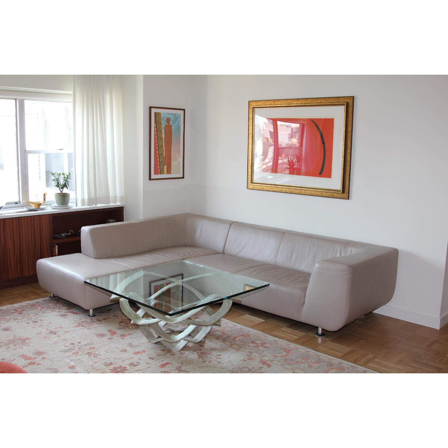 Maurice Villency Leather Sectional - image-4