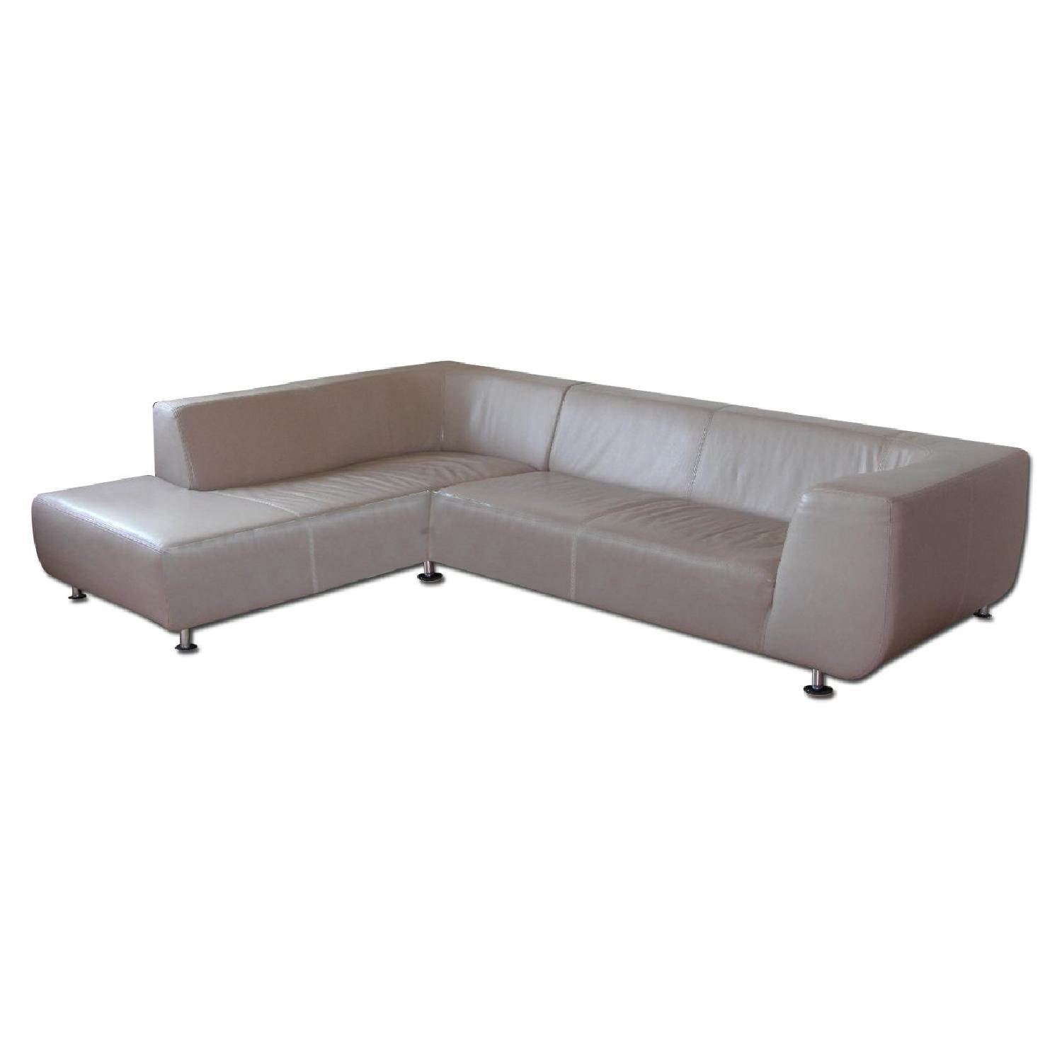 Maurice Villency Leather Sectional - image-0