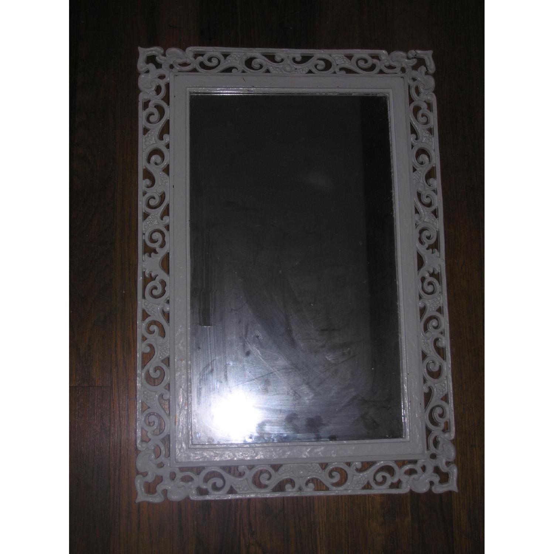 Shabby Chic Rococo Style Mirror w/ Matching Shelf - image-2