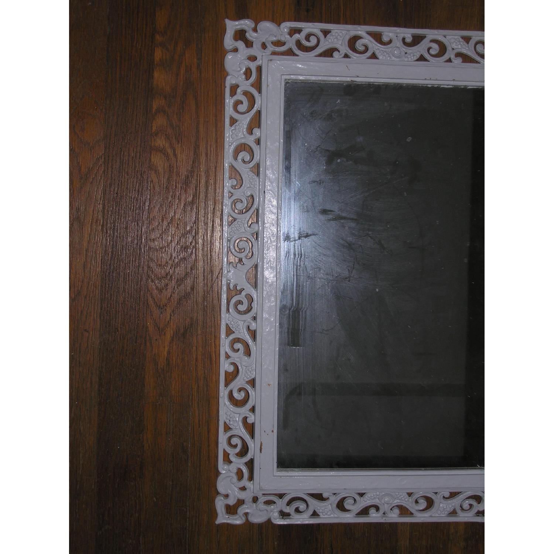 Shabby Chic Rococo Style Mirror w/ Matching Shelf - image-3