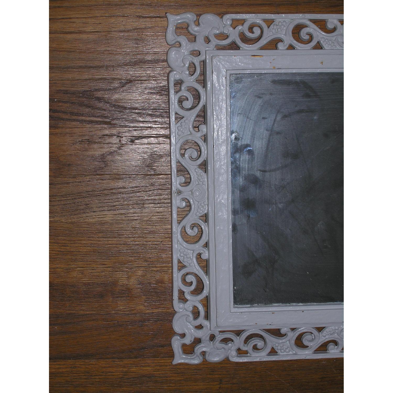 Shabby Chic Rococo Style Mirror w/ Matching Shelf - image-4
