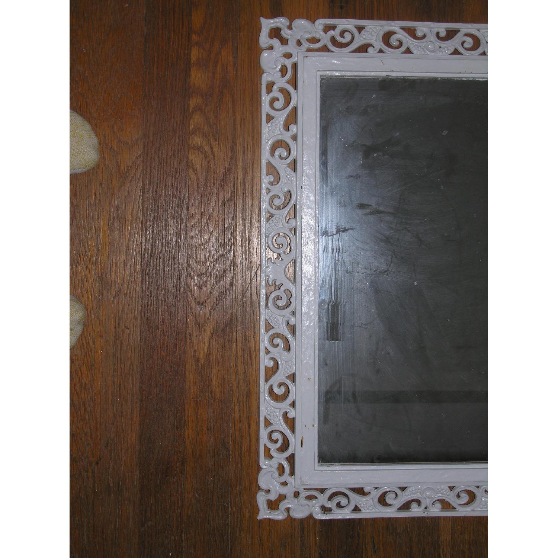 Shabby Chic Rococo Style Mirror w/ Matching Shelf - image-5