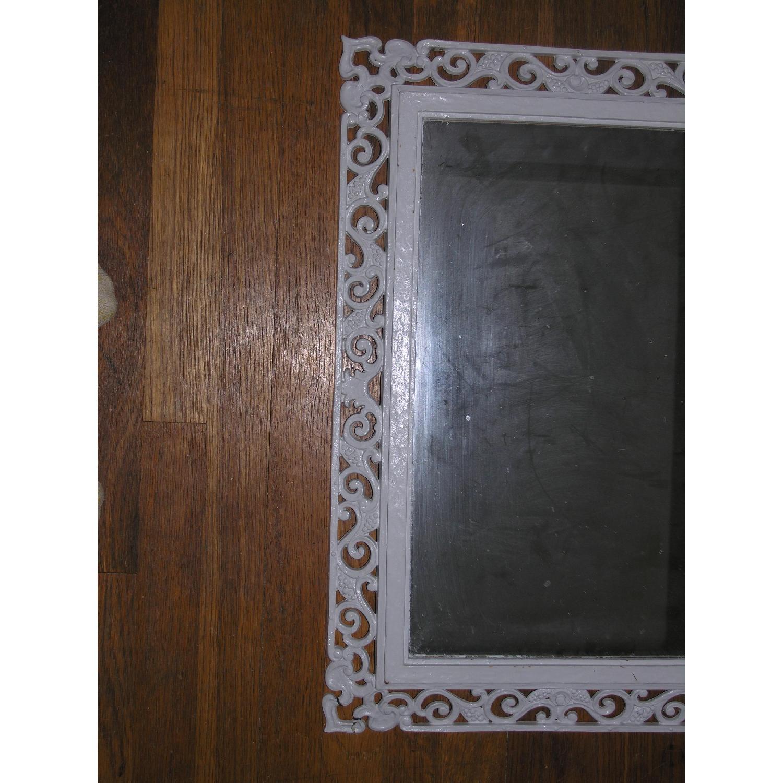 Shabby Chic Rococo Style Mirror w/ Matching Shelf - image-6