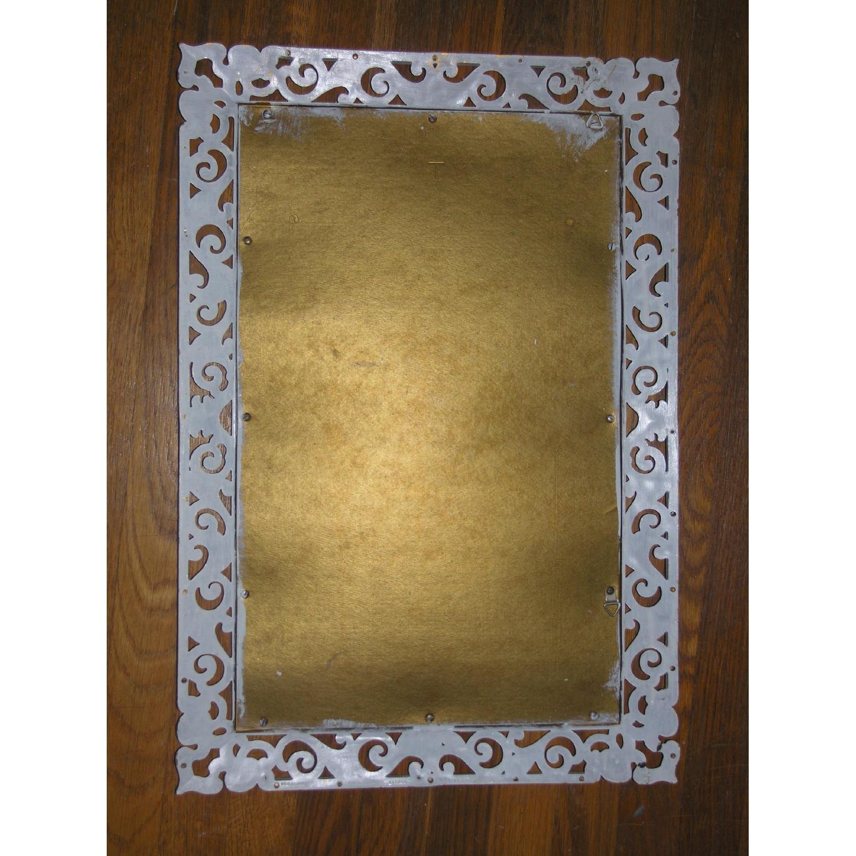 Shabby Chic Rococo Style Mirror w/ Matching Shelf - image-7