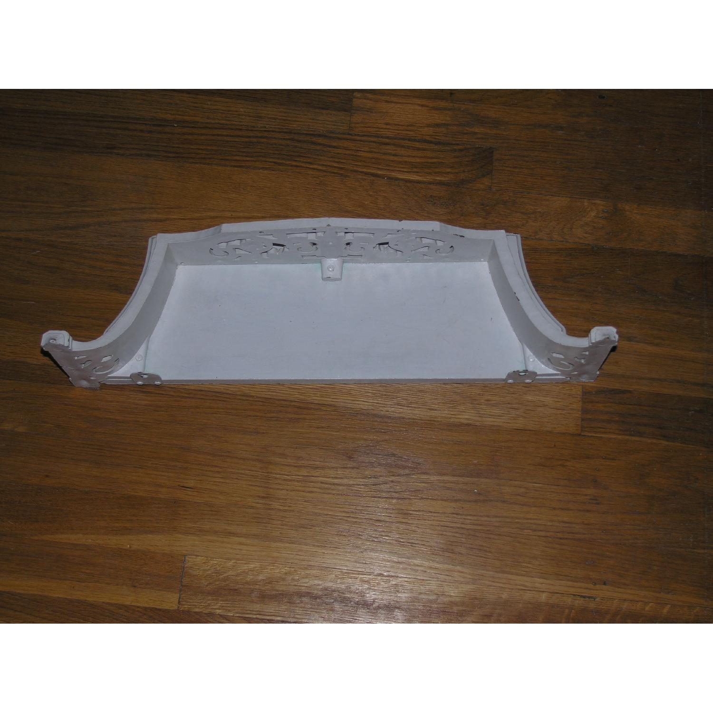 Shabby Chic Rococo Style Mirror w/ Matching Shelf - image-14