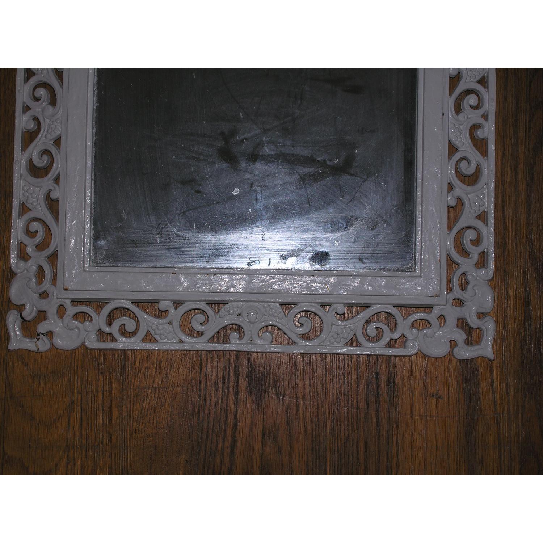 Shabby Chic Rococo Style Mirror w/ Matching Shelf - image-17