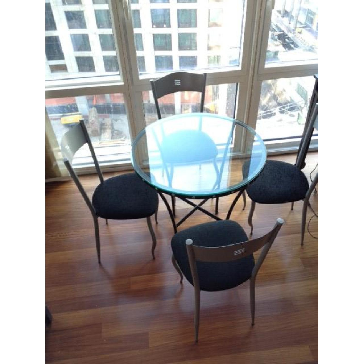 Glass Table w/ 4 Chairs - image-1