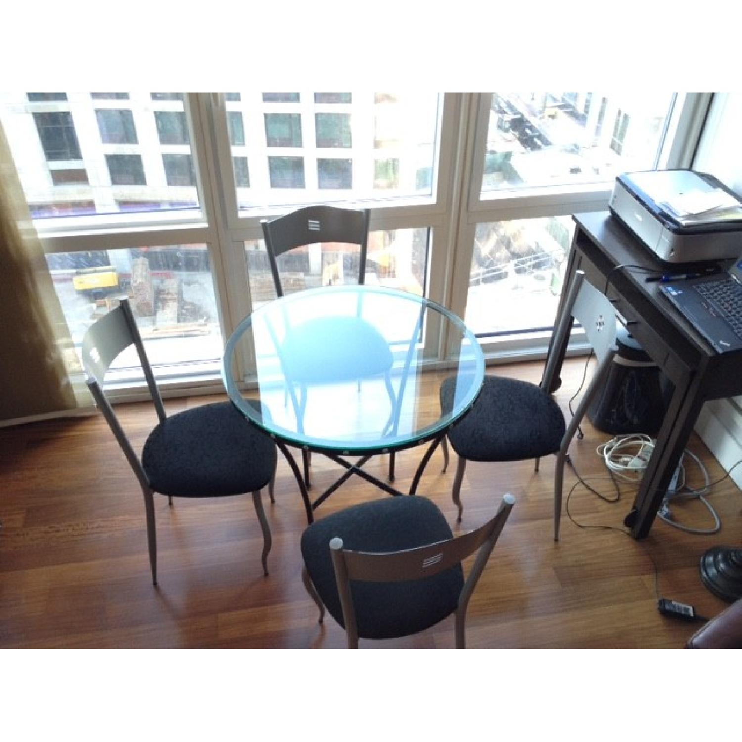 Glass Table w/ 4 Chairs - image-2