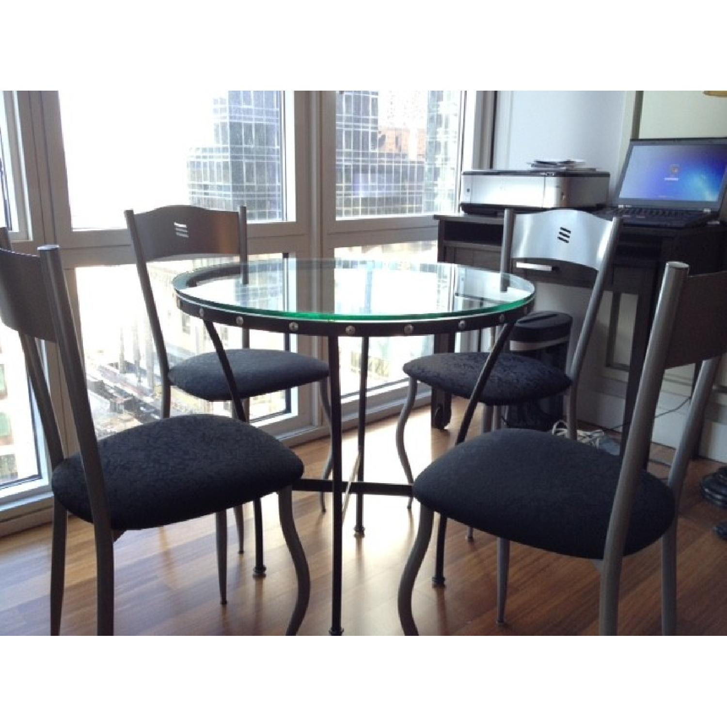 Glass Table w/ 4 Chairs - image-4