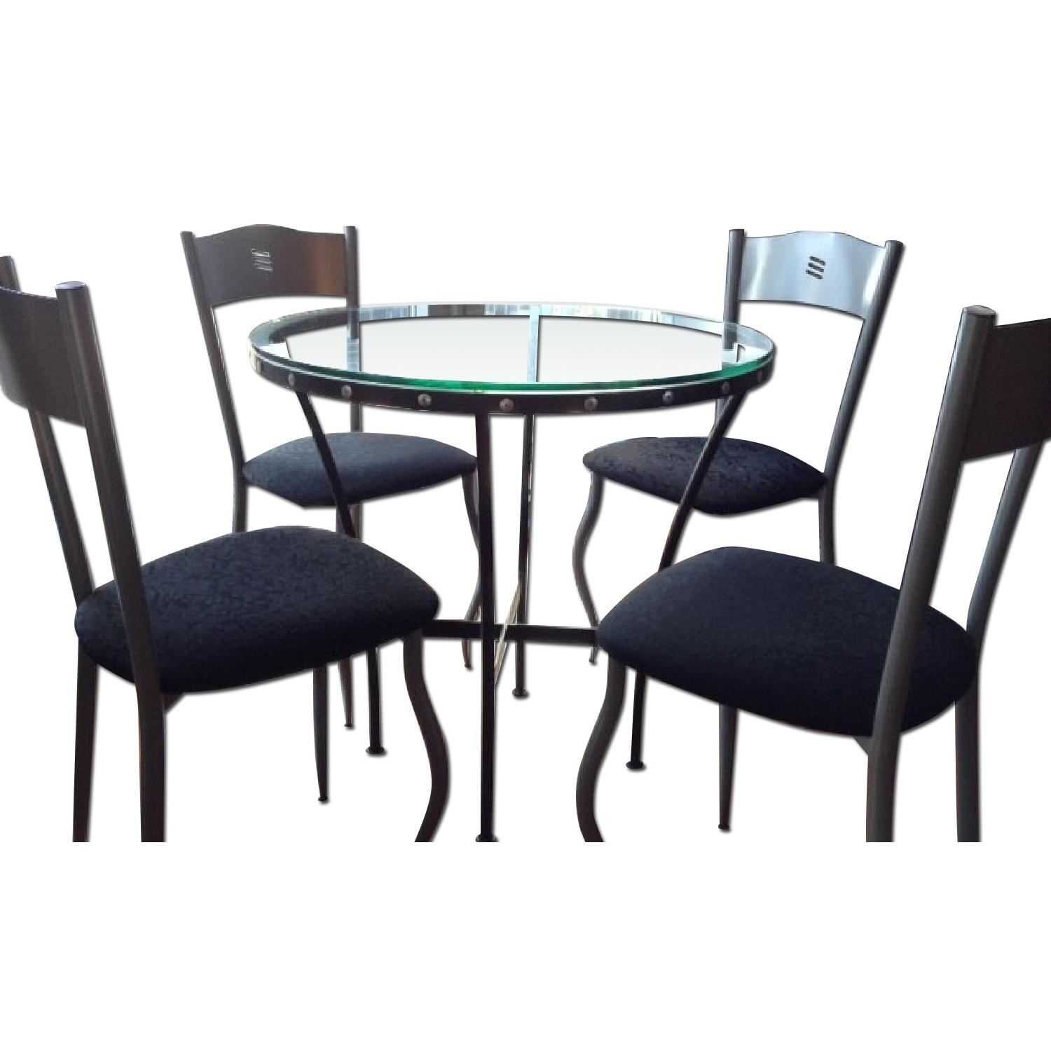 Glass Table w/ 4 Chairs - image-0
