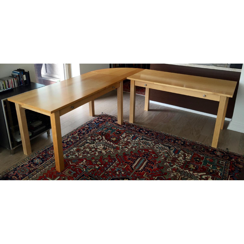 Crate & Barrel Wood L-Shaped Desk - image-1